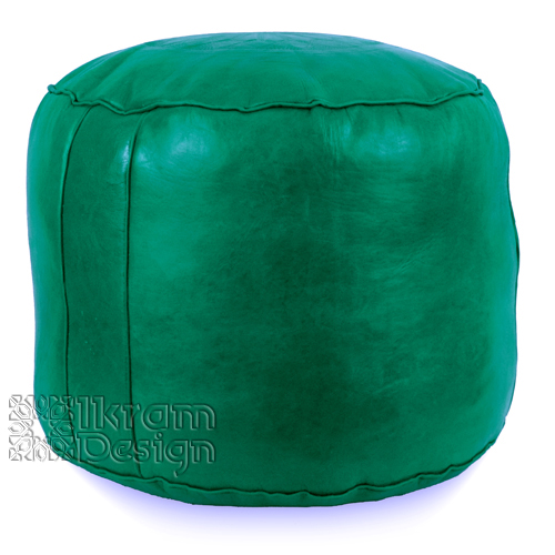 Green Tabouret Fez Pouf - Click Image to Close