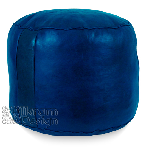 Navy Blue Tabouret Fez Pouf - Click Image to Close