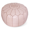 Papaya Whip Moroccan Leather Pouf
